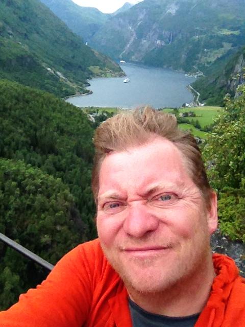Mark at Geirangerfjord