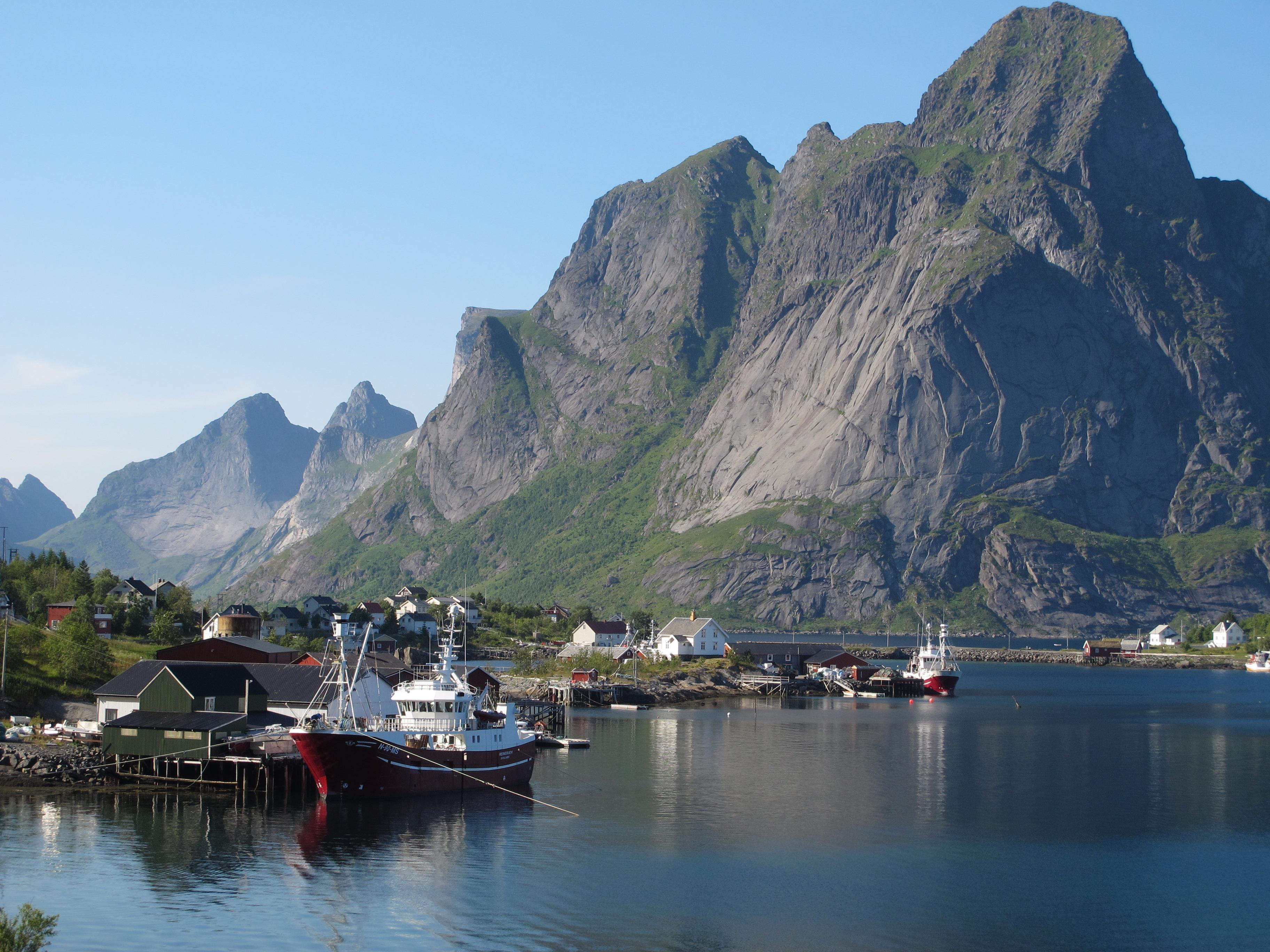 Boat at Lofoten Islands