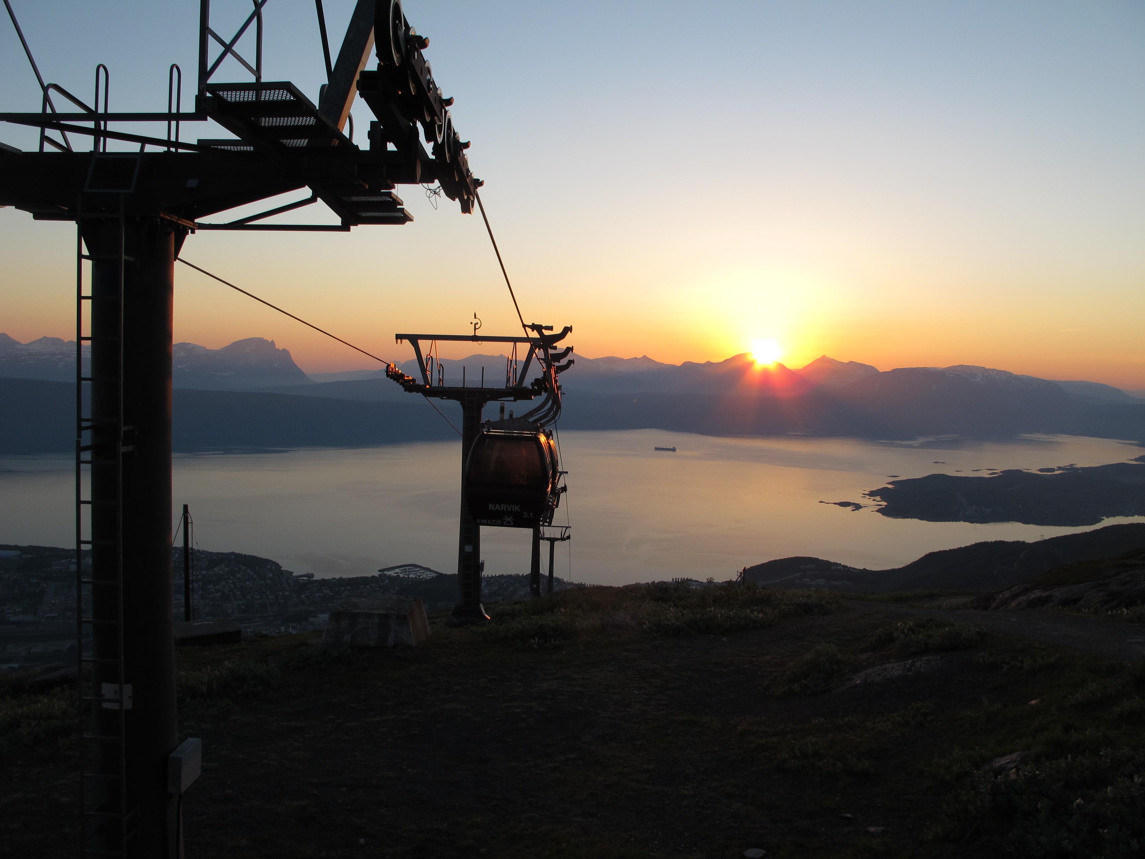 Midnight sun at Narvik