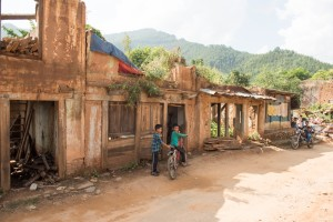 The village of Hattigauda was devastated by the earthquake