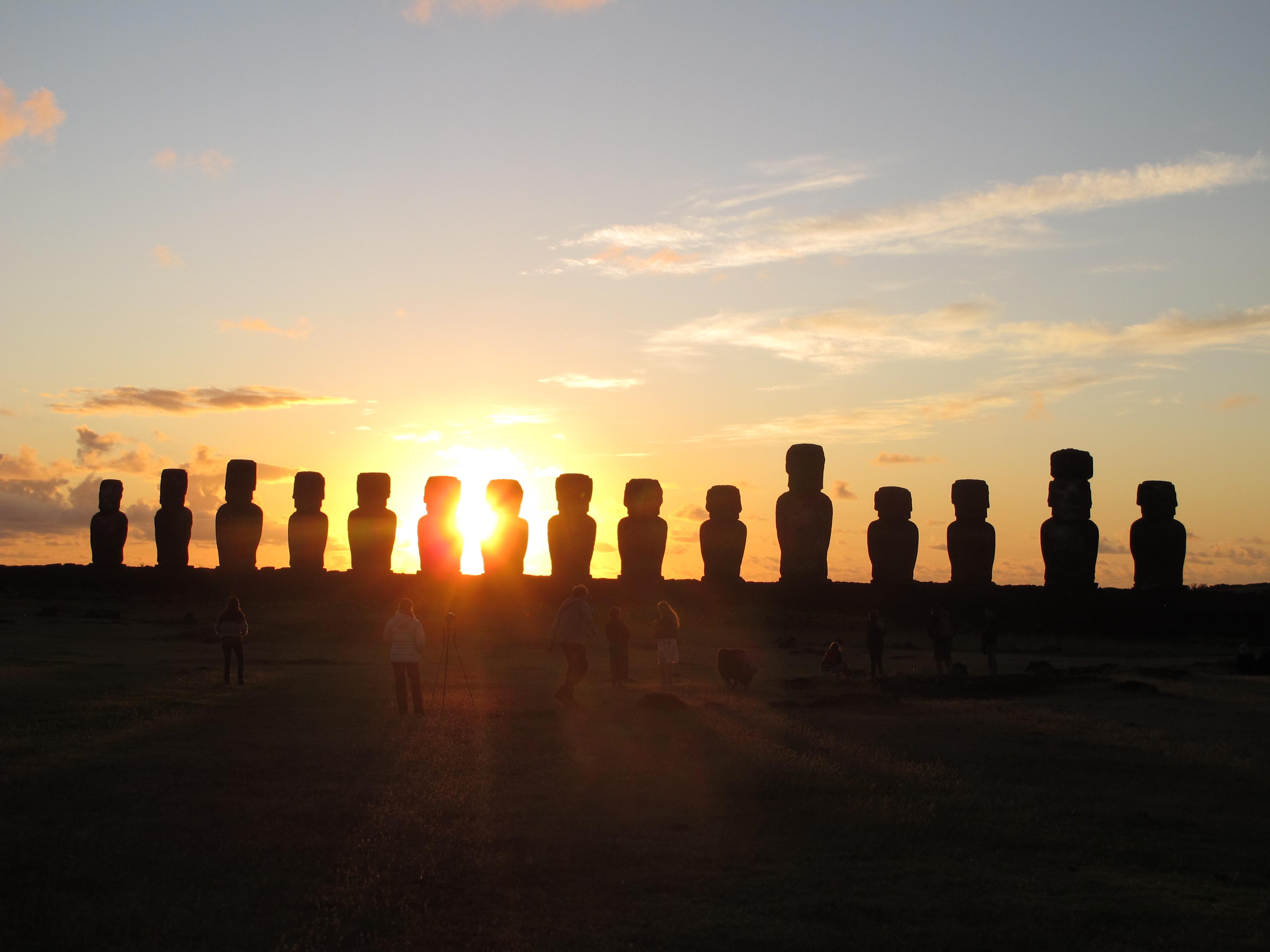 Ahu Tongariki Sunset
